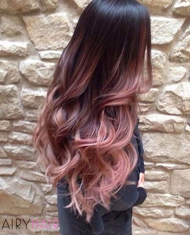 Pastel rose color hair