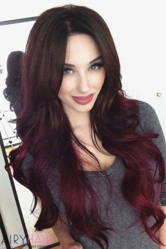 Burgundy extensions