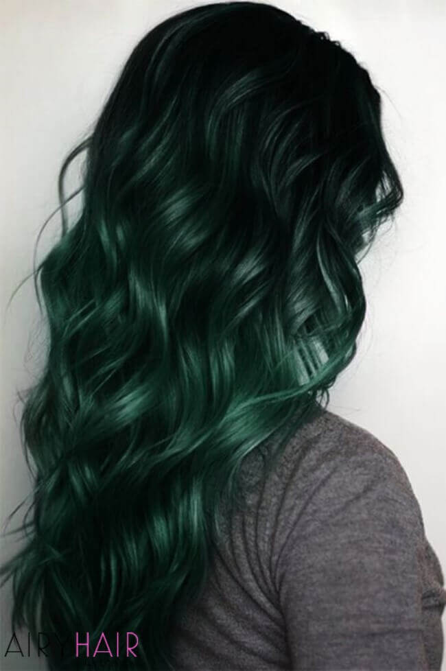 Green and black ombre