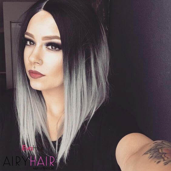 30 Best Black Grey Ombre Hair Extension Color Ideas 2020