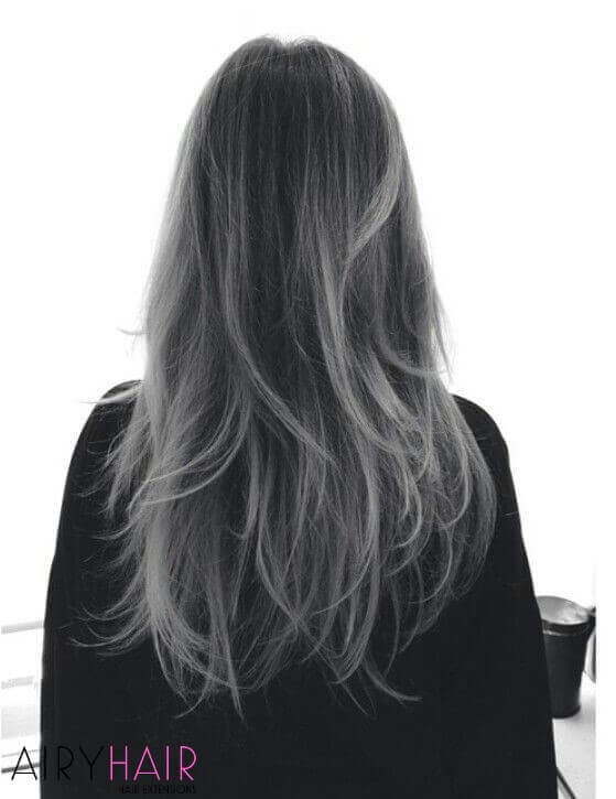 Black, the grey highlights ombre