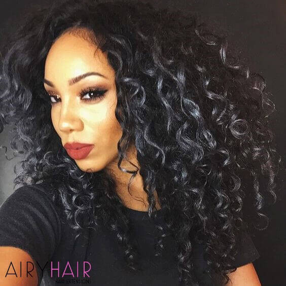Curly hairstyles on black woman
