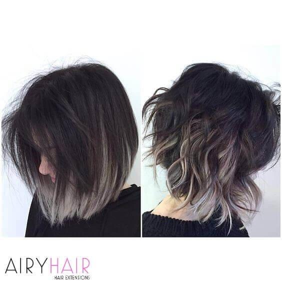 20+ Best Black and Grey Ombré Hair Color Ideas