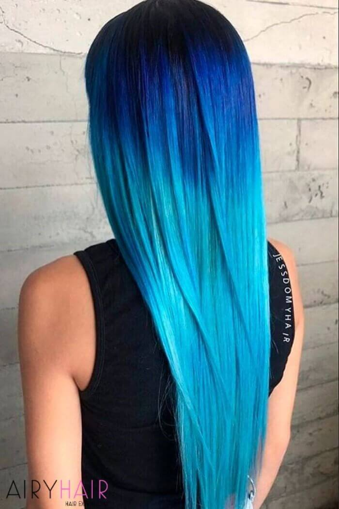 Ombre to turquoise or teal color