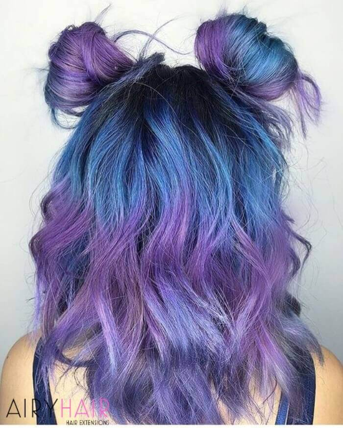 Blue and violet ombre