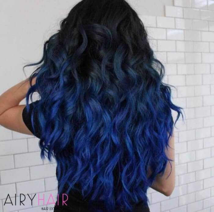 Darker blue ombre