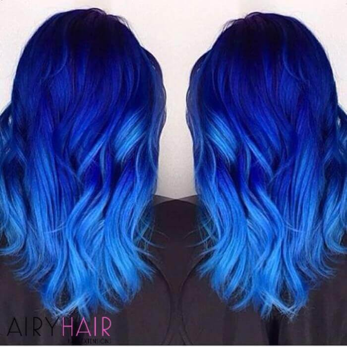 Different blue shades hairstyle