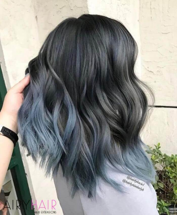 Toned down version of the blue ombre