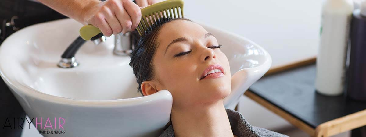 Rinsing and Drying Hair