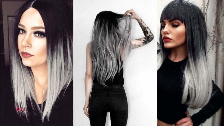 20 Best Black And Grey Ombr 233 Hair Extension Color Ideas