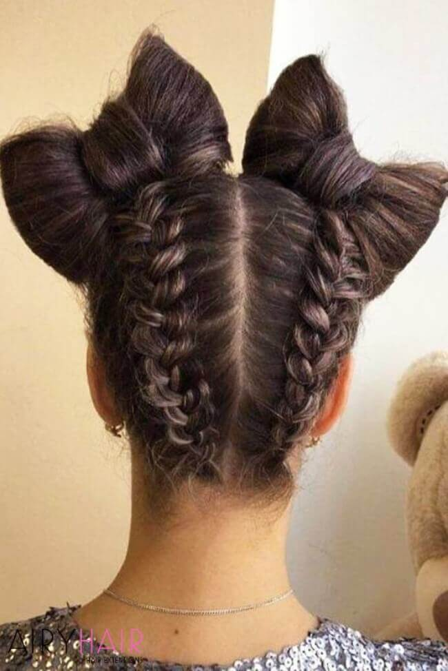 Cute and feminine hairstyle