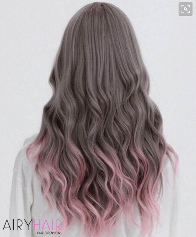 Grey and pastel pink look