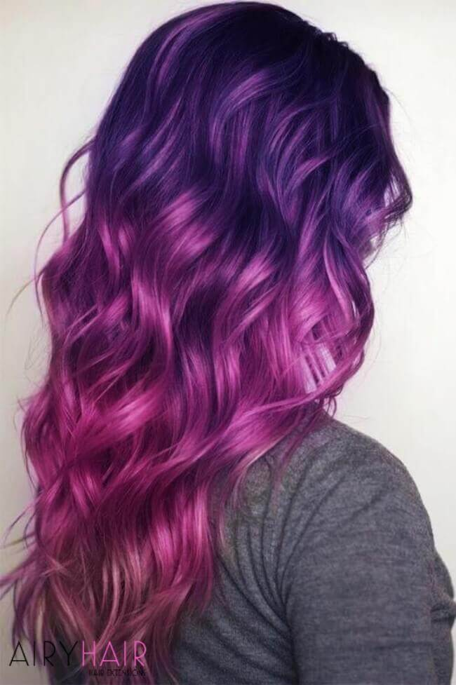 Bright and bold hair color