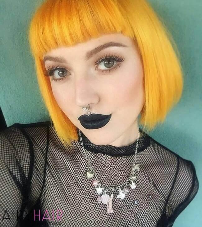 Cute orange haircut
