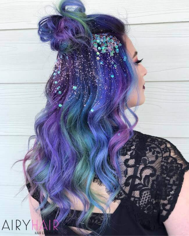 Bright and colorful hairstyles