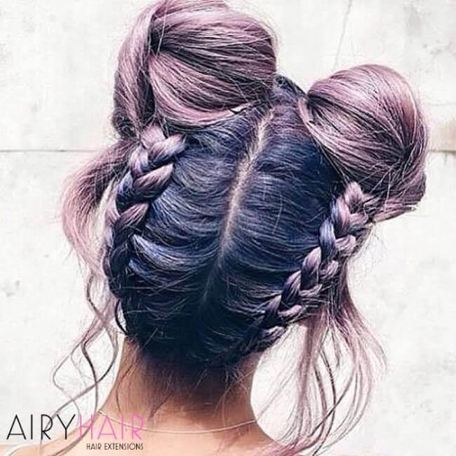 Pastel purple color