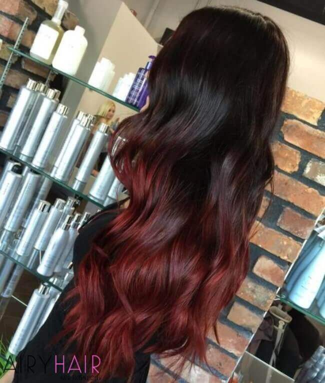 Dark copper color with splashes of red