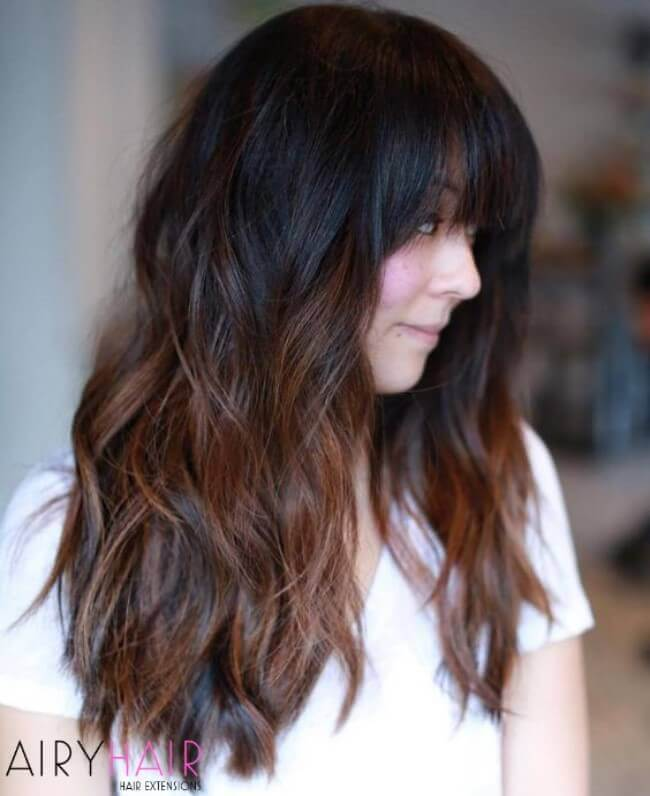 Creative ombre hairstyle