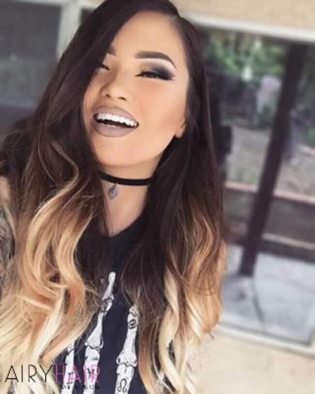 Black and blonde ombre