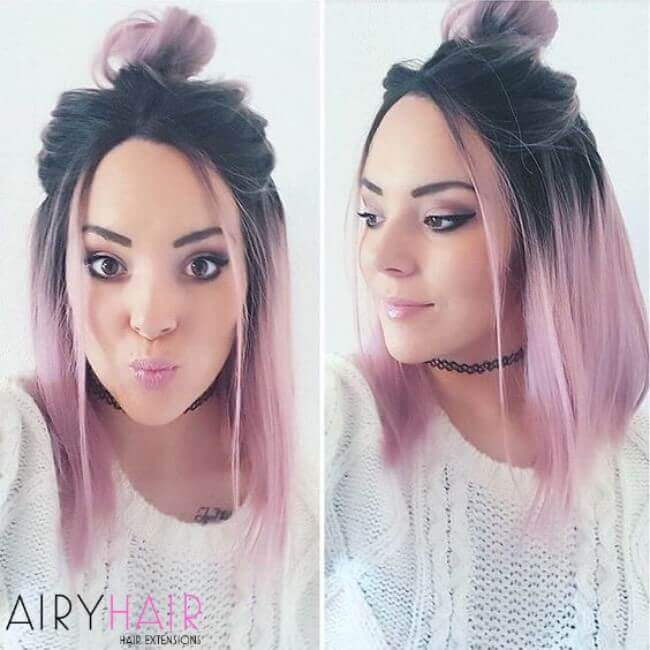 Black and pink ombre