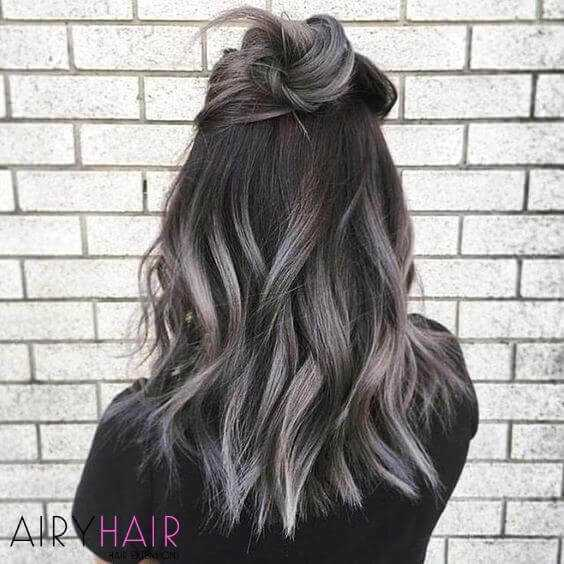 20 Best Black And Grey Ombr Hair Extension Color Ideas
