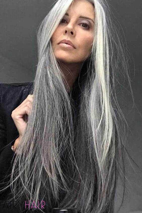 Mature look, black and gray ombre