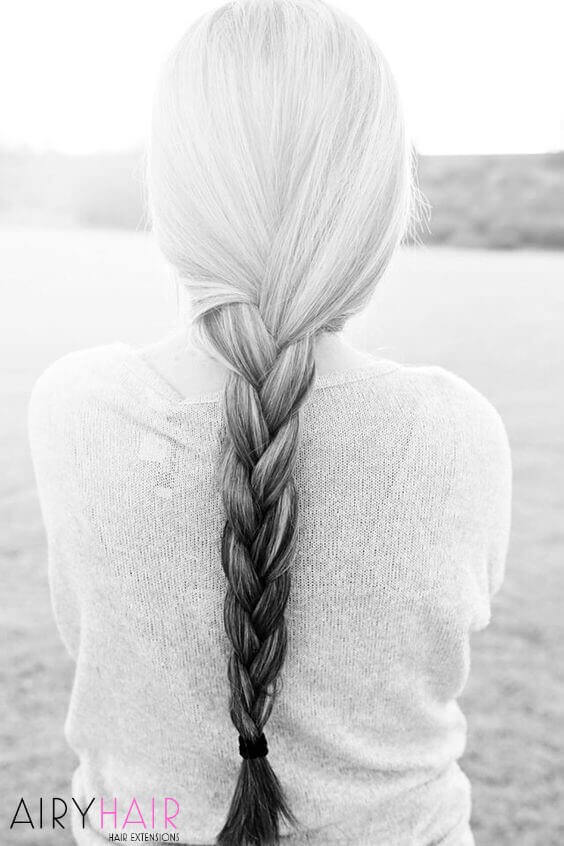 Long braided ombre, gray and black