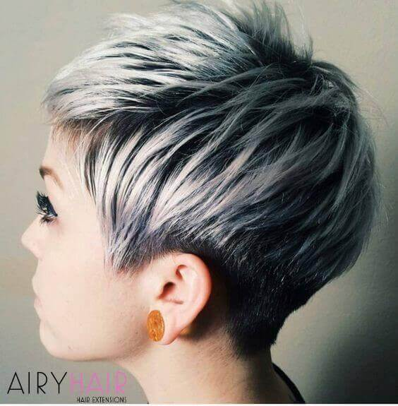 Ombre on very short hair