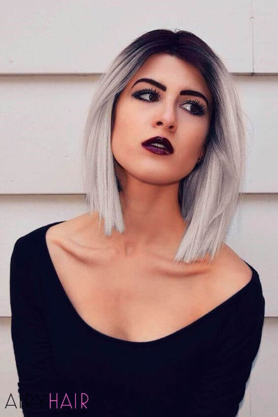 20 Best Black And Grey Ombre Hair Extension Color Ideas