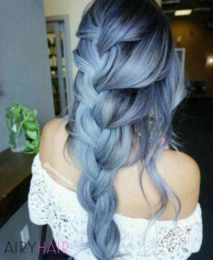Pastel blue ombre hairstyle