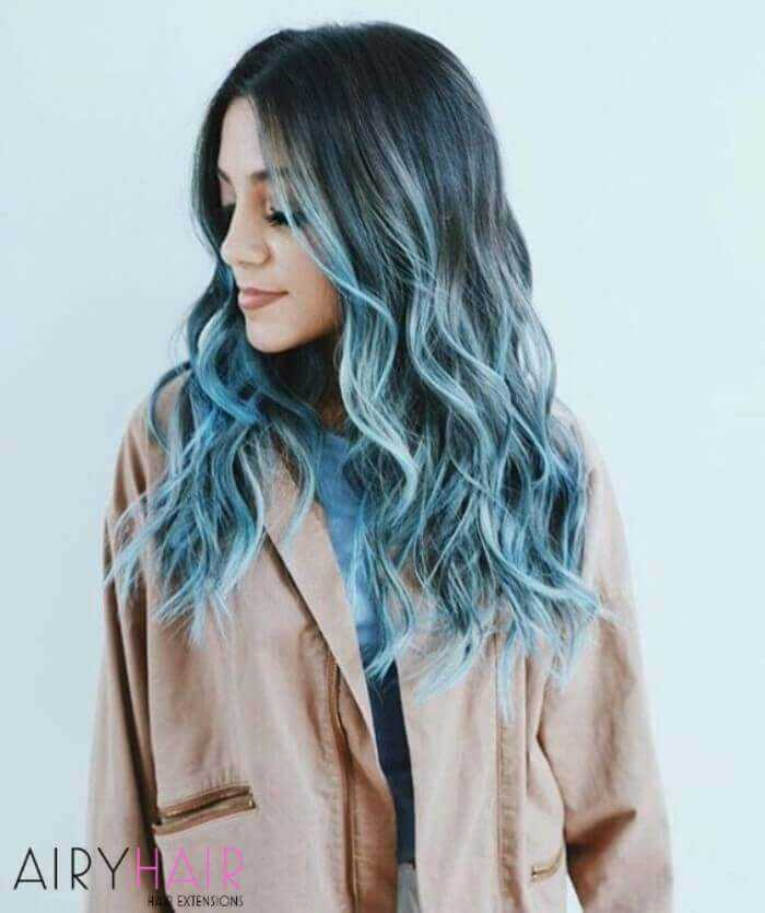 20 Blue And Pastel Blue Ombre Ideas For Hair Extensions