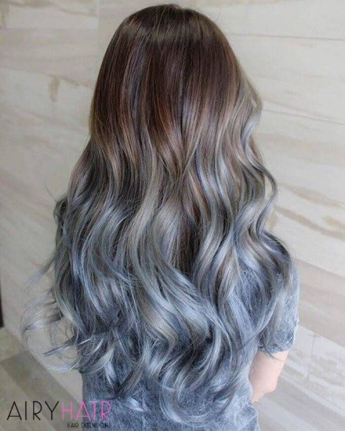 Natural shades of brown ombre
