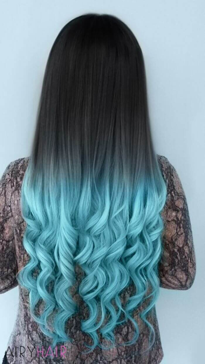 Clean ombre with a very strong contrast
