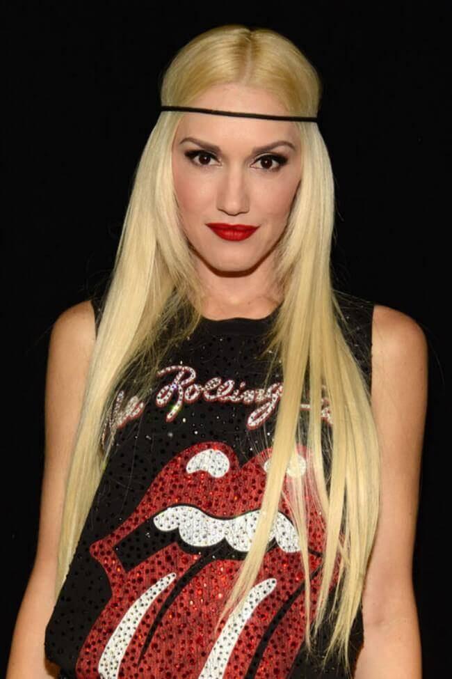 Gwen Stefani with Hair Extensions