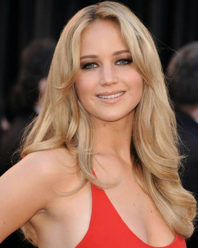 Jennifer Lawrence with Hair Extensions