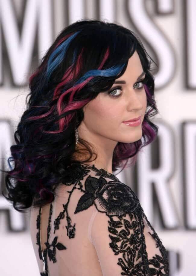 Katy Perry with Hair Extensions