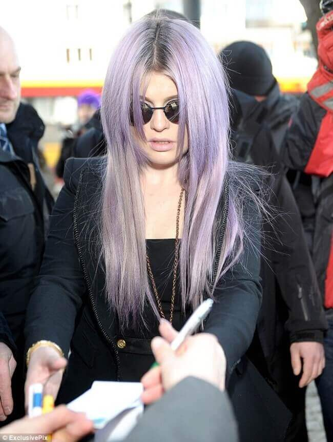 Kelly Osbourne with Hair Extensions