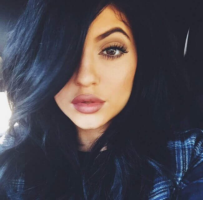 Kylie Jenner with Hair Extensions