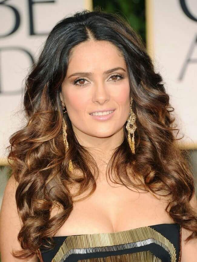 Salma Hayek with Hair Extensions