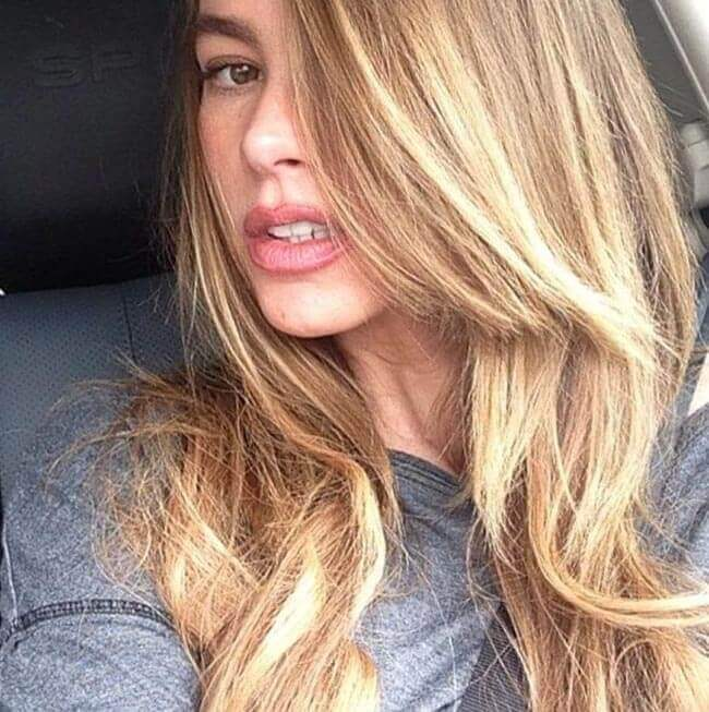 Sofia Vergara with Hair Extensions