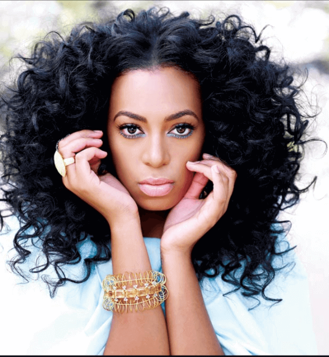 Solange Knowles with Hair Extensions