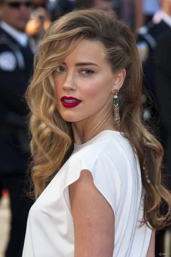 Amber Heard with Hair Extensions