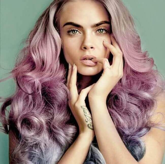 Cara Delevingne with Hair Extensions