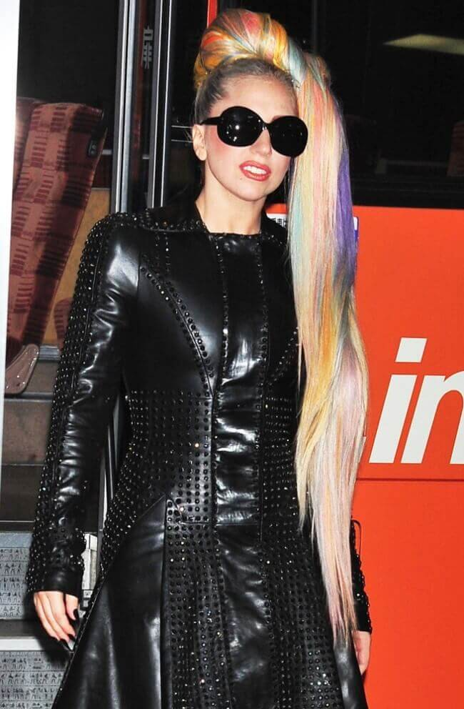 Lady Gaga with Hair Extensions