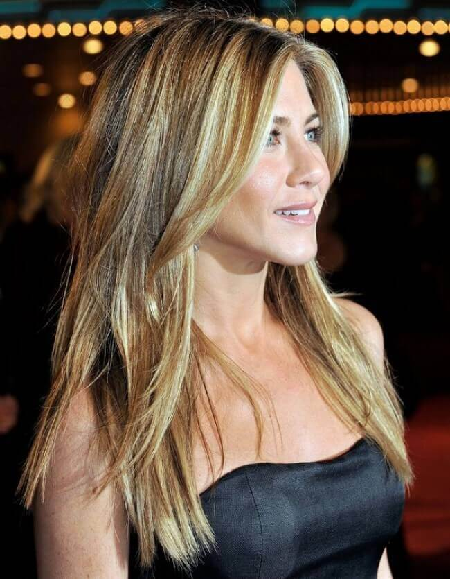 Jennifer Aniston with Hair Extensions