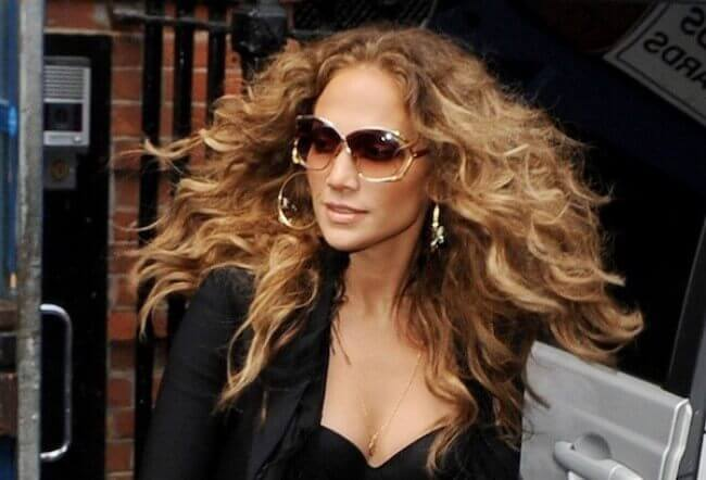 Jennifer Lopezs with Hair Extensions