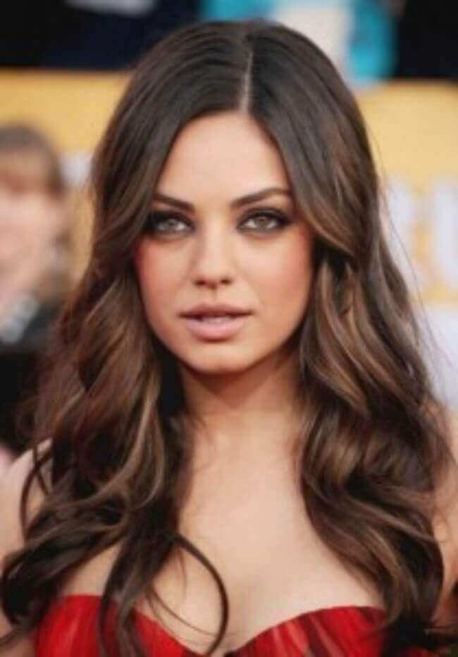 Mila Kunis with Hair Extensions