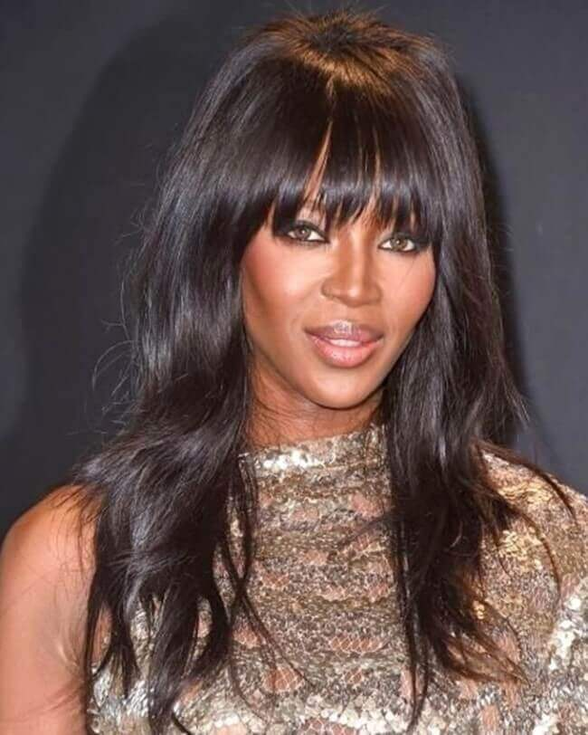 Naomi Campbell with Hair Extensions