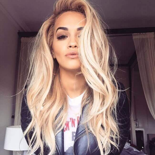 Rita Ora with Hair Extensions