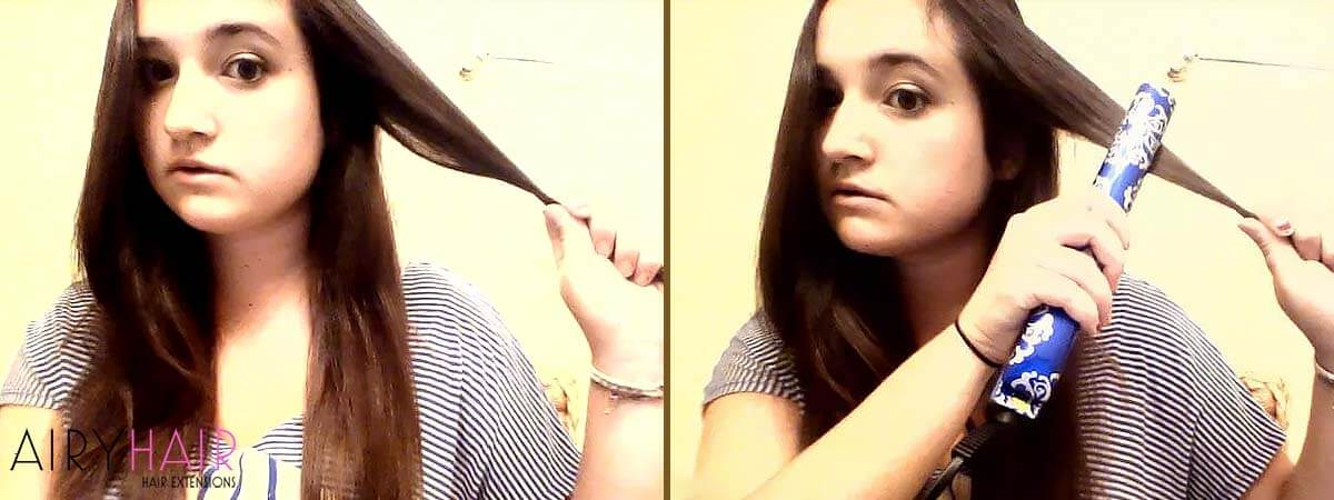 How to Curl Hair Extensions, Step 1